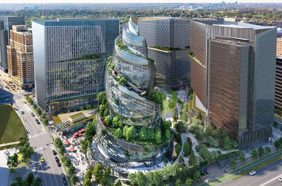 Amazon presents the look of its new US headquarters 'inspired by nature'