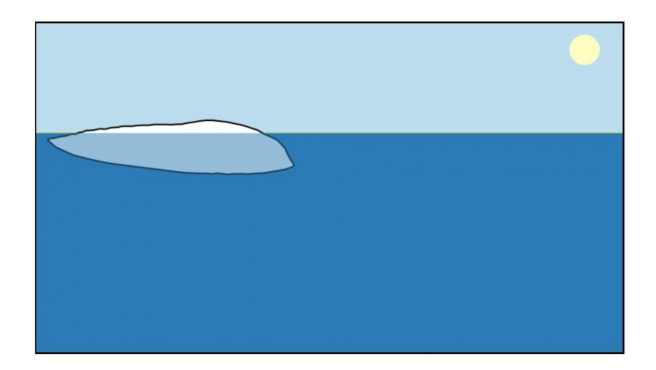 This website allows you to draw an iceberg at will … to discover that it will not float as you thought it would